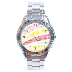 Pattern4 Stainless Steel Analogue Men's Watch