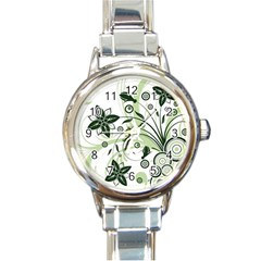 Flower1 Round Italian Charm Watch