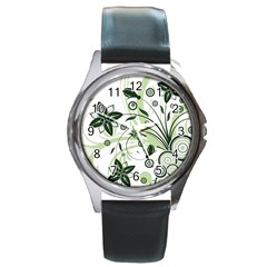 Flower1 Round Metal Watch