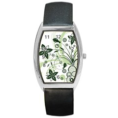 Flower1 Barrel Style Metal Watch