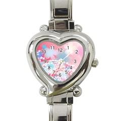 Flower2 Heart Italian Charm Watch