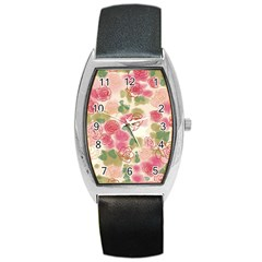 Flower3 Barrel Style Metal Watch