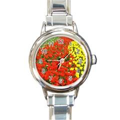 Flower1 Round Italian Charm Watch
