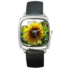 Flower2 Square Metal Watch