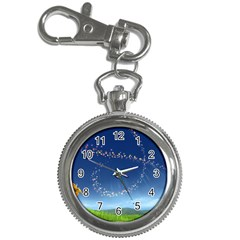 Flower3 Key Chain Watch