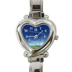 Flower3 Heart Italian Charm Watch