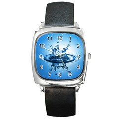 Water1 Square Metal Watch