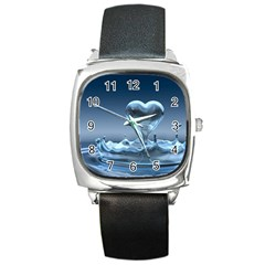 Water2 Square Metal Watch