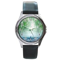 Water4 Round Metal Watch