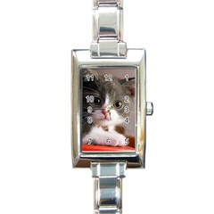 Cat1 Rectangular Italian Charm Watch
