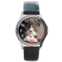 Cat1 Round Metal Watch