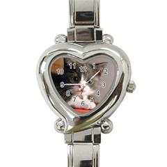 Cat1 Heart Italian Charm Watch