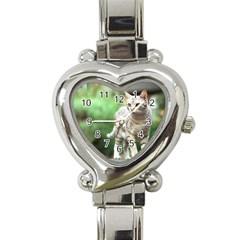 Cat2 Heart Italian Charm Watch