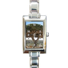 Tree2 Rectangular Italian Charm Watch
