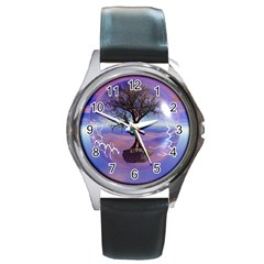Tree3 Round Metal Watch
