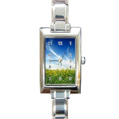 Land1 Rectangular Italian Charm Watch