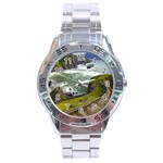 Land3 Stainless Steel Analogue Men's Watch Front