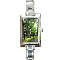Land4 Rectangular Italian Charm Watch