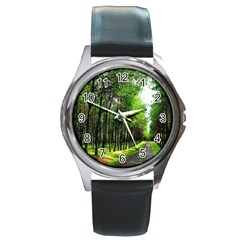 Land4 Round Metal Watch