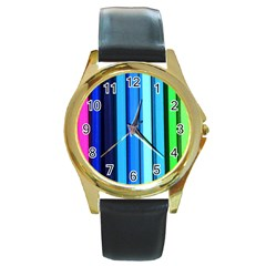 Cr2 Round Gold Metal Watch