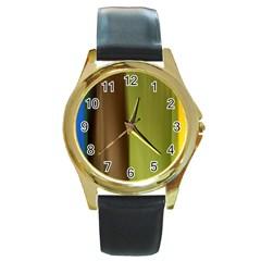 cr3 Round Gold Metal Watch