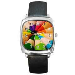 Cr4 Square Metal Watch