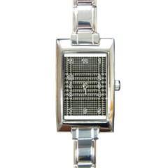 Ck1 Rectangular Italian Charm Watch