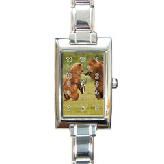 Bear4 Rectangular Italian Charm Watch
