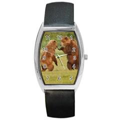 bear4 Barrel Style Metal Watch