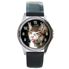 cat4 Round Metal Watch
