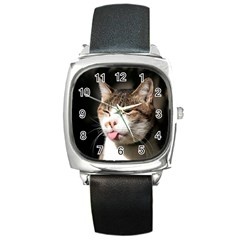 cat4 Square Metal Watch
