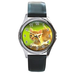 Cat5 Round Metal Watch