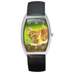 Cat5 Barrel Style Metal Watch