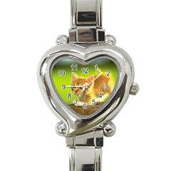 Cat5 Heart Italian Charm Watch