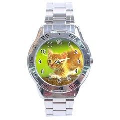 cat5 Stainless Steel Analogue Men's Watch