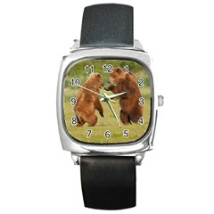 bear4 Square Metal Watch