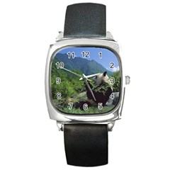 bear5 Square Metal Watch