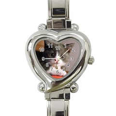 Cat1 Heart Italian Charm Watch