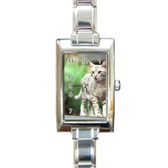 Cat2 Rectangular Italian Charm Watch