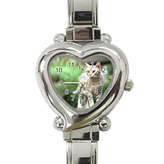 Cat2 Heart Italian Charm Watch