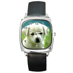 Dog1 Square Metal Watch
