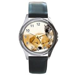 Dog2 Round Metal Watch