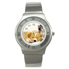Dog2 Stainless Steel Watch