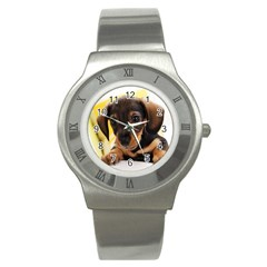 Dog3 Stainless Steel Watch