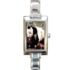 Panda1 Rectangular Italian Charm Watch