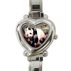 Panda1 Heart Italian Charm Watch