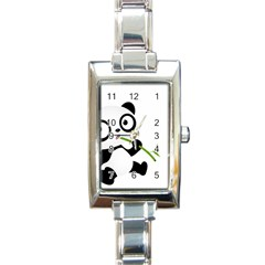 Panda3 Rectangular Italian Charm Watch