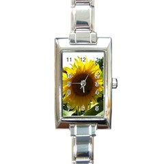 Flower2 Rectangular Italian Charm Watch