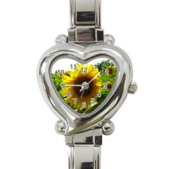 Flower2 Heart Italian Charm Watch