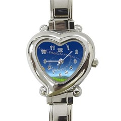 Flower3 Heart Italian Charm Watch